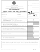 Form In-0581 - Life And Accident And Health Companies - Tennessee Department Of Commerce And Insurance