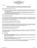 Form Nucs - Notice Of Elegibility Of Transfer Of Experience Record