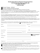 Renewal Certificate Receiving Form - Nevada State Board Of Physical Therapy Examiners