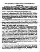 Instructions For Filing Application For Exemption Form Fr 164