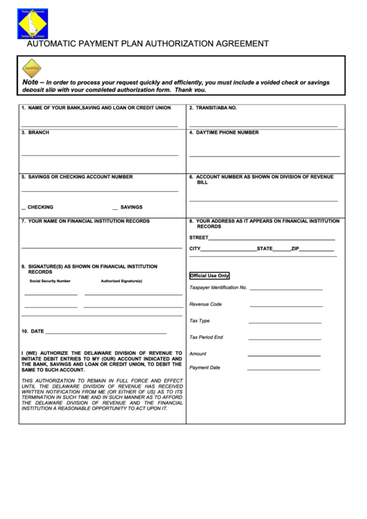 Auto Bill Payer Phone Number : Automatic payment plan authorization agreement form
