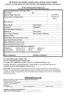 Republic Of Sierra Leone Visa Application Form - Consulate General Of The Republic Of Sierra Leone, Australia