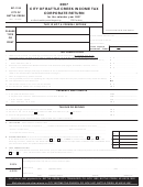 Form Bc-1120 - Income Tax Corporate Return - City Of Battle Creek - 2007