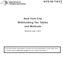 Nys-50-t-nyc - York City Withholding Tax Tables And Methods - 2017