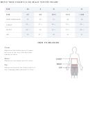 Boys' Size Chart (8-20) Male Youth Chart