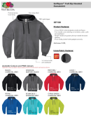 Sf73r Fruit Of The Loom Sofspun Full Zip Hooded Sweatshirt Size Chart