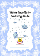 Winter Snowflake Counting Cards Template