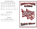 Landmark Baptist School Clothing Size Chart