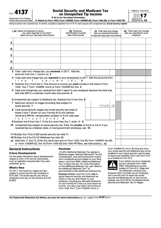 2017 tax form 1040nr ez