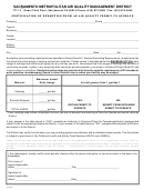 Form 459xmpt - Certification Of Exemption From An Air Quality Permit To Operate - Sacramento Metropolitan Air Quality Management District