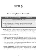 Representing Decimal Tousandths - Grade 5