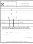 Form 81-900 (1) - License Application Housing Inspection