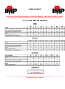 Imp Sport - Size Chart