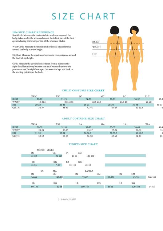 Size Chart - Laylas Dance Costumes