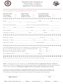 Application For Enrollment - Citizen Police Academy - Memphis Police Department
