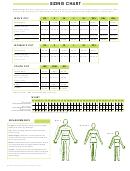 Trimark Sportswear Group Clothing Sizing Chart
