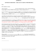 Letter To Employee: Cfra Leave Taken After Pdl/fmla Template