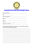 Community Service Proposed Project Submission Request Form