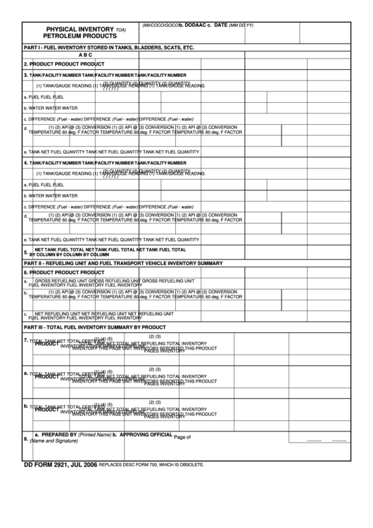 physical inventory form