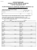 Form Tx-16 - Claim For Refund Of Temporary Disability Insurance Tax
