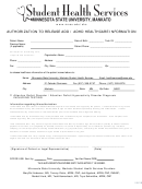 Authorization To Release Add / Adhd Healthcare Information Form - Minnesota Student Health Services