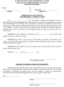 Order For Ach Payments And Debtor(s)' Certification - In The United States Bankruptcy Court For The Southern District Of Texas Houston Division Form