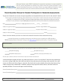 Parent/guardian Refusal For Student Participation In Statewide Assessments