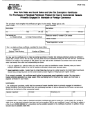 Form St-127 - New York State And Local Sales And Use Tax Exemption Certificate For Purchases Of Residual Petroleum Product For Use In Commercial Vessels Primarily Engaged In Interstate Or Foreign Commerce