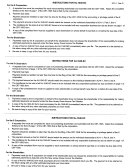 Instructions For Form Nj-1040-sc - New Jersey Department Of The Treasury - 2001