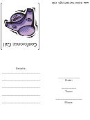 Conference Call Meeting Invitation Template