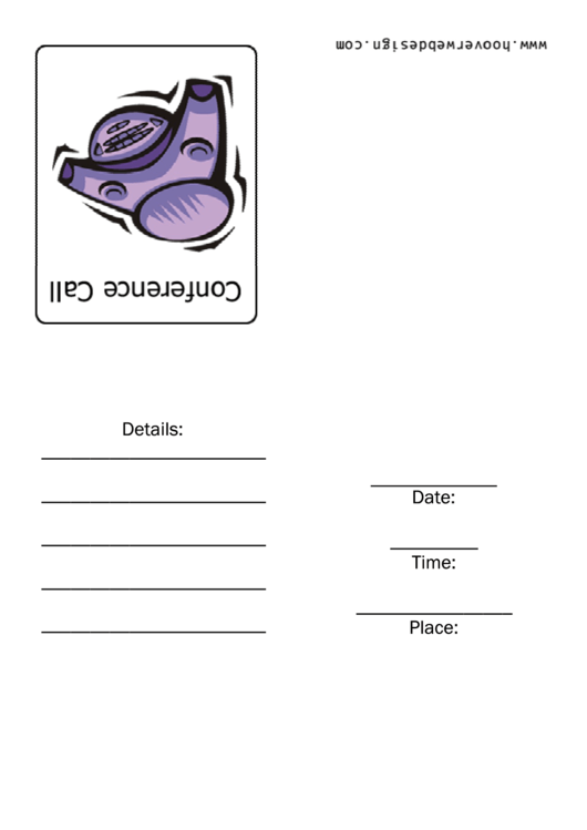 Conference Call Meeting Invitation Template Printable pdf