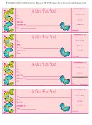 Gift Certificate Template Butterflies