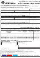 Form D1181 - Application For Reimbursement Of Medical Expenses Privately Incurred - Australian Department Of Veterans' Affairs