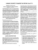 Vermont Property Transfer Tax Return (form Pt-1)