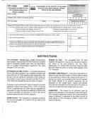 Form Fp-129a - Extension Of Time To File D.c. Resonal Property Tax Return Or Report - 2011