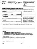 Form St-128.1 - Application For Out-of-state Resale Permit