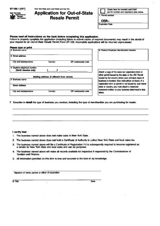 resale form state application st pdf printable permit 2860