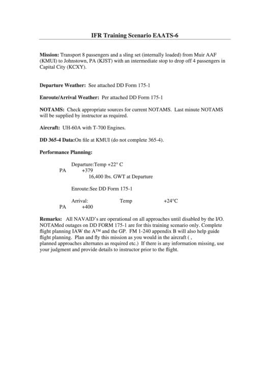 Dd Form 175-1 - Flight Weather Briefing