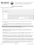 Form 540 - Filing Form Cover Letter - Jon Husted - Ohio Secretary Of State