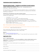 Submissions Generic Application Form