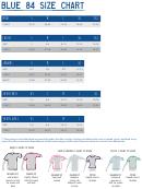 Blue 84 Lakeshirts Size Chart