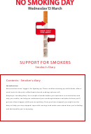 Support For Smokers - Smoker's Diary