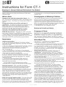 Instructions For Form Ct-1 - Employer's Annual Railroad Retirement Tax Return - Internal Revenue Service - 2007