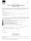 Form Cs-fm42 - Electronic Remittance Of Child Support Payments Request For Waiver