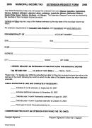 Extension Request Form - Tricota, Ohio Municipal Income Tax - 2006