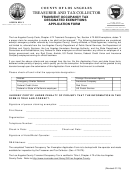 Transient Occupancy Tax Designated Exemptions Application Form - County Of Los Angeles
