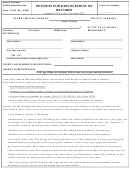 Form Cr-65 - Petition For Expungement Of Records