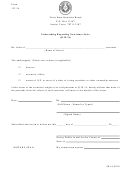 Form 133.34 - Undertaking Regarding Non-issuer Sales