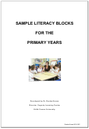 Sample Literacy Blocks For The Primary Years