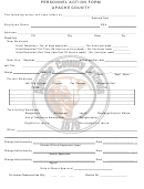 Personnel Action Form - Apache County
